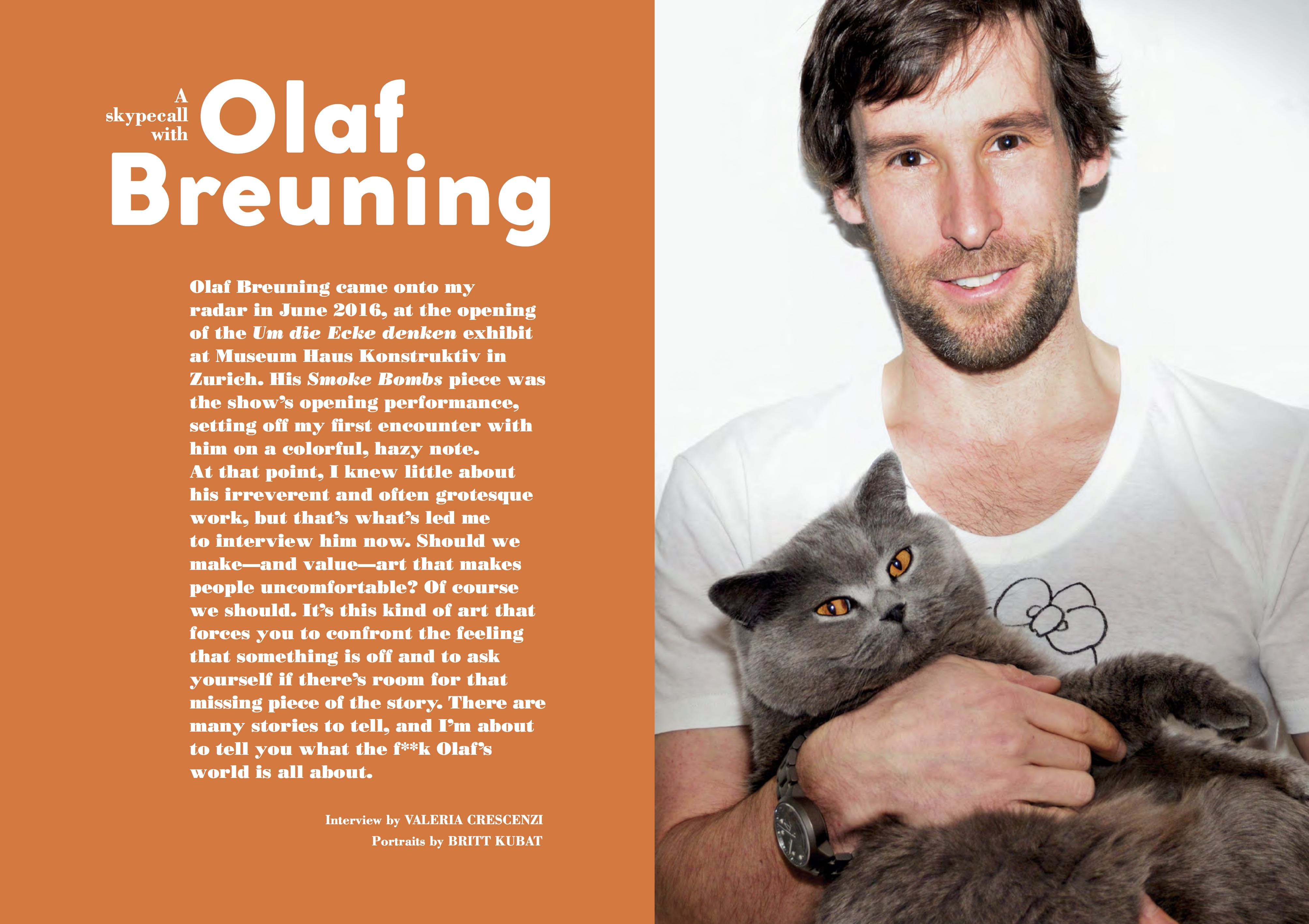 PoP issue #TWO. Interview with Olaf Breuning