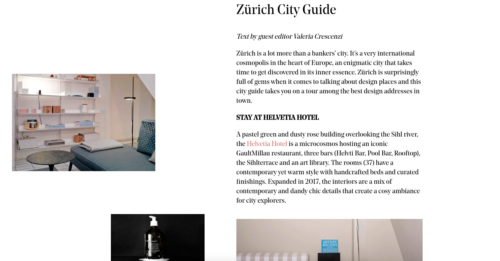 Make space journal: Zürich City Guide