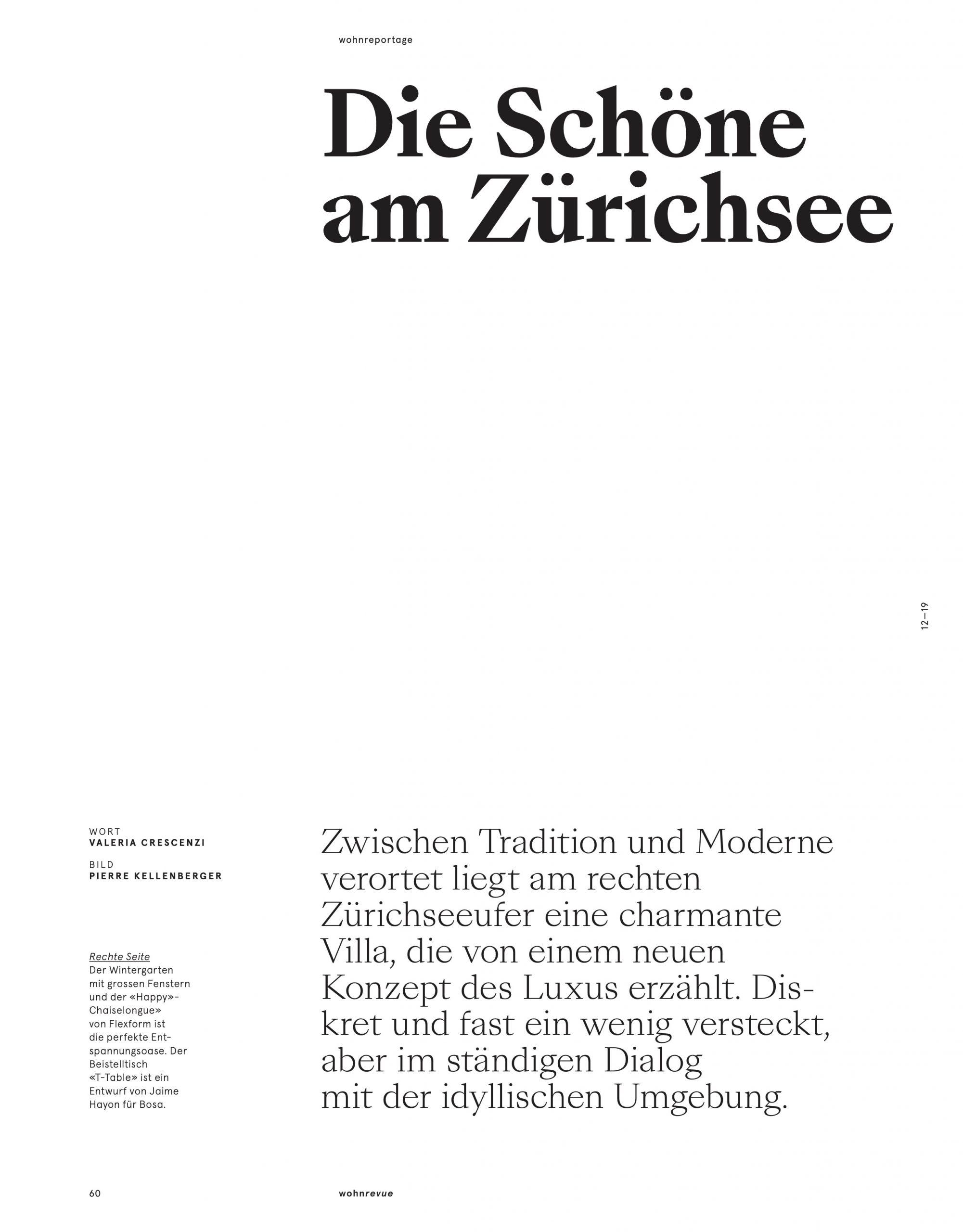 Wohnrevue: Die Schöne am Zürichsee