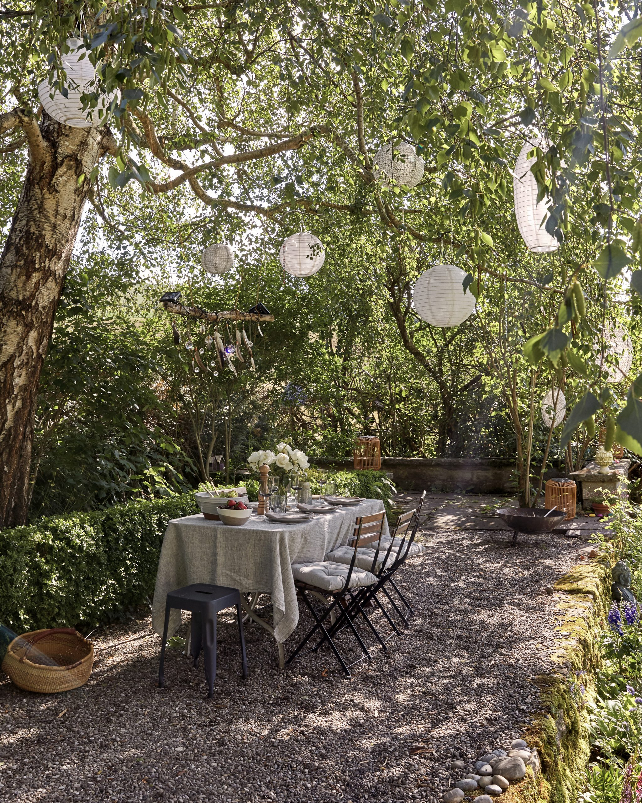 One of a kind villa in the Swiss countryside - table in the garden