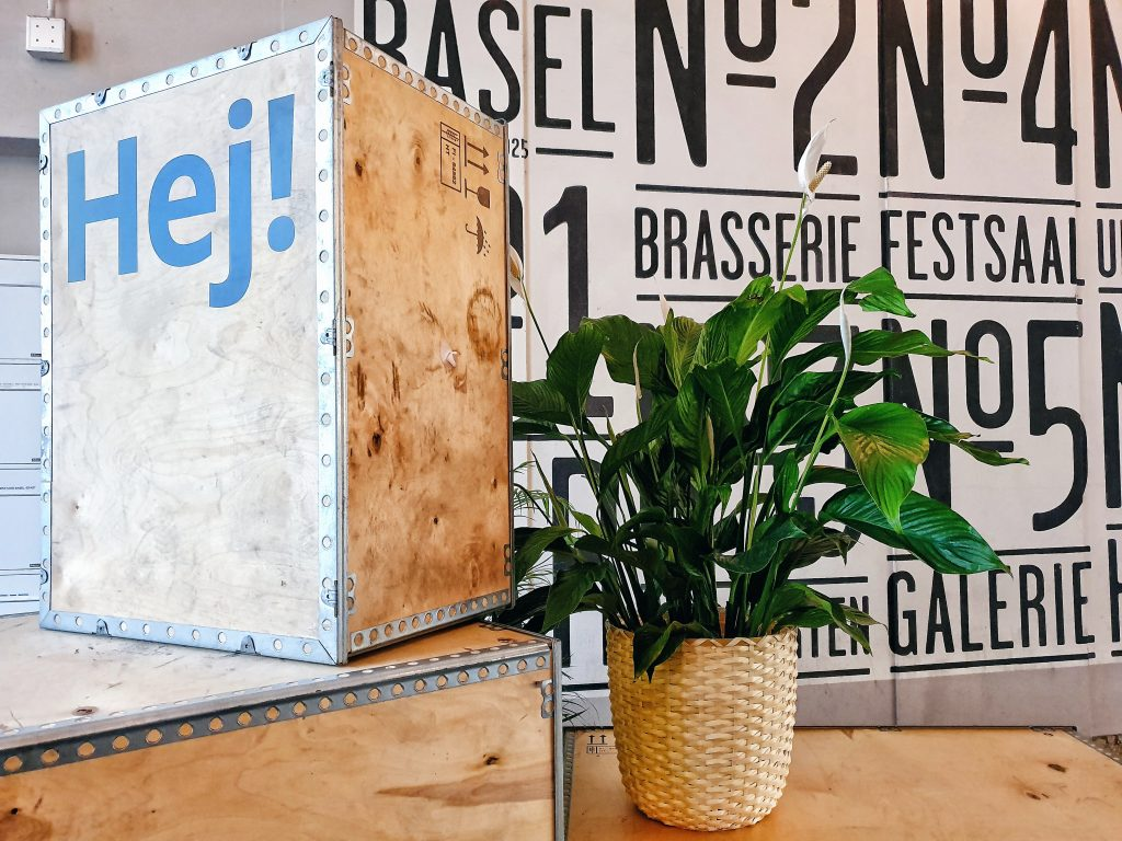 The entrance at the Volkshaus Basel where IKEA DDD Basel 2019 took place